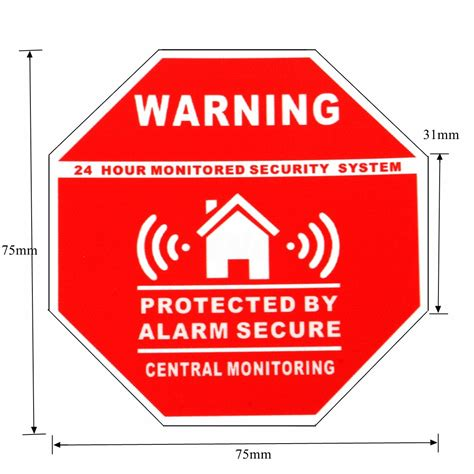 home security system stickers saftey alarm signs decal