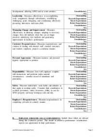 production supervisor performance appraisal
