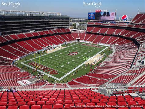 levi stadium seating chart beyonce levi s stadium section 420 seat views seatgeek