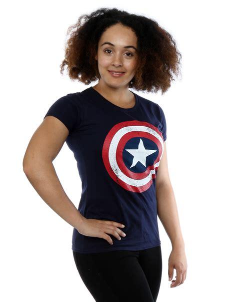 Marvel Tees Original Captain Amerika Not Bape marvel s captain america distressed shield t shirt ebay