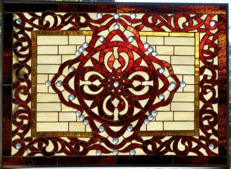 Austin Home Decor custom made moroccan celtic stained glass window by