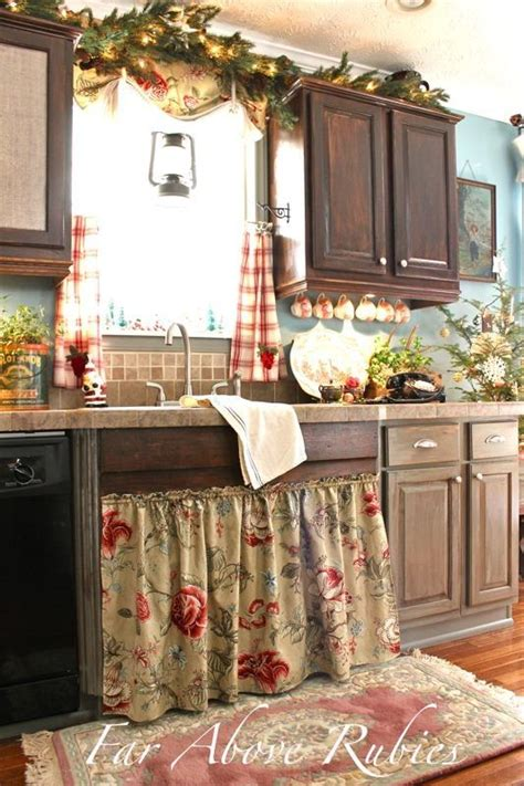 country kitchen curtain ideas 7 best curtain under kitchen sink images on pinterest