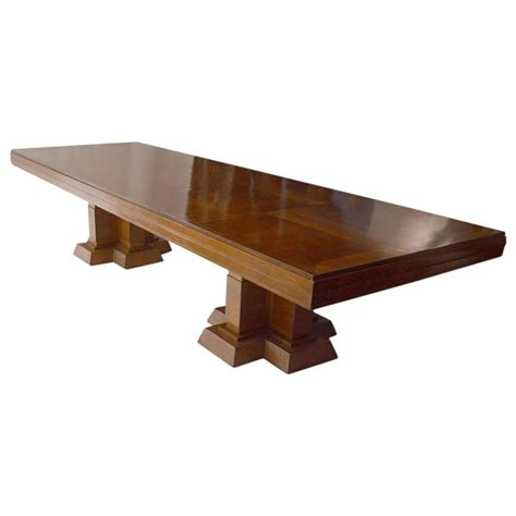 Large Conference Table Large Deco Conference Or Dining Table At 1stdibs