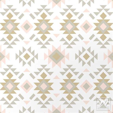 Kitchen Wall Decorating Ideas Pinterest Tribal Aztec Print Pattern Removable Wallpaper Diy Decor