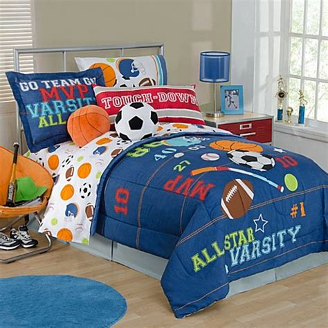 comforter sets for softball all sports bedding collection www bedbathandbeyond