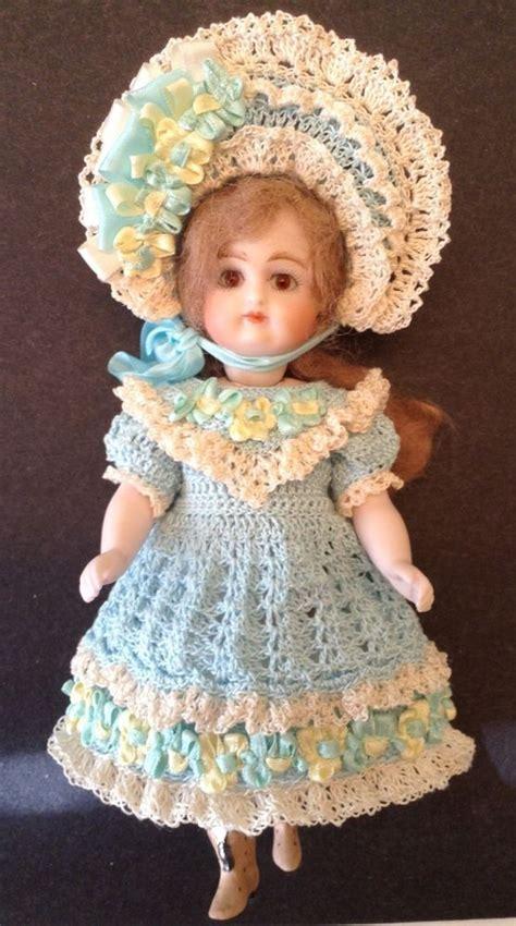 bisque doll dress german crochet dress set for 6 1 2