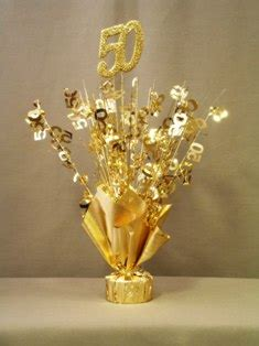 anniversary table centerpieces gold 50th anniversary table centerpiece