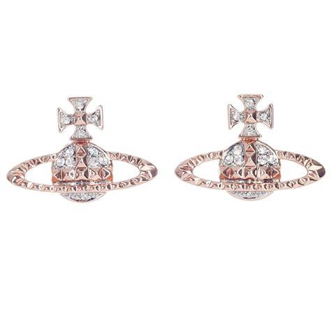 vivienne westwood mayfair bas relief earrings pink gold