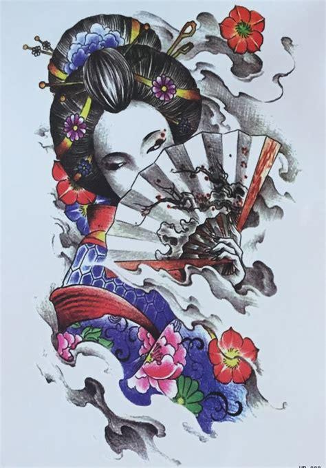 Tattoo Cô Gái Nh T Geisha | 2015 new promotion tatouage fashionable the japanese