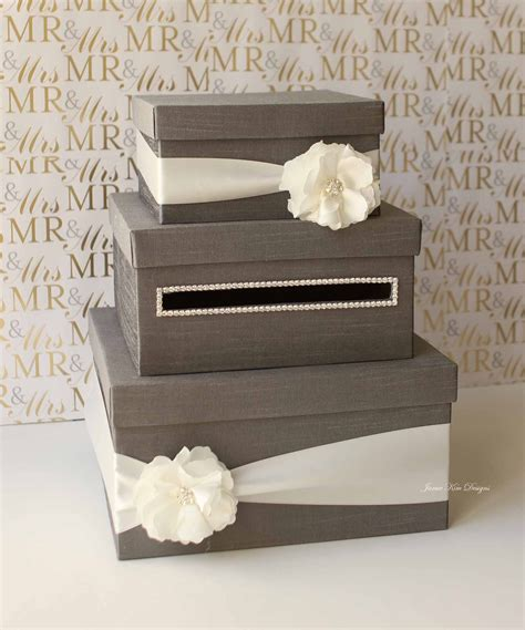 Gift Box Card Holder - wedding card money box gift card holder reserved
