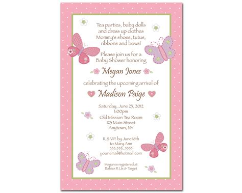 baby shower announcements templates butterfly baby shower invitations theruntime