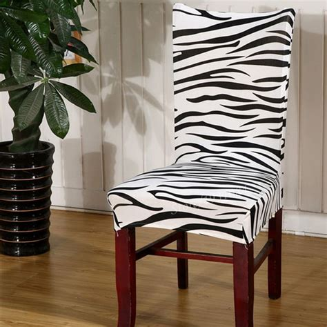 Zebra Dining Chair Covers Zebra Print Chair Covers Promotion Shop For Promotional Zebra Print Chair Covers On Aliexpress