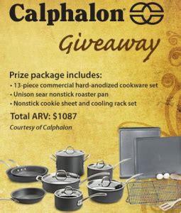 Calphalon Sweepstakes - sierra trading post calphalon giveaway sweepstakes win a 13 piece calphalon cookware