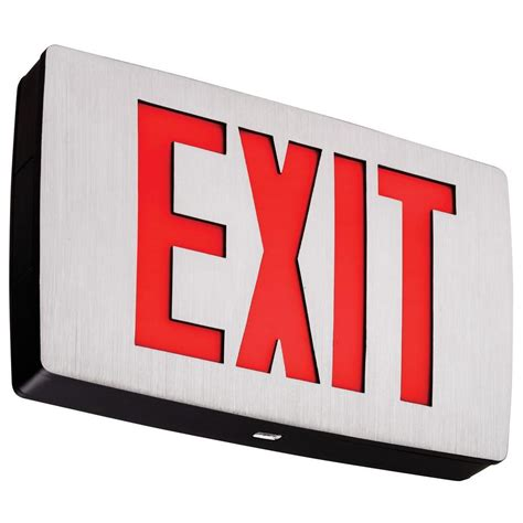 exit lights home depot 8 in x 11 in glow in the exit sign 840200 the