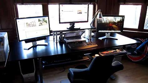 computer desks for geeks geekdesk w custom top youtube