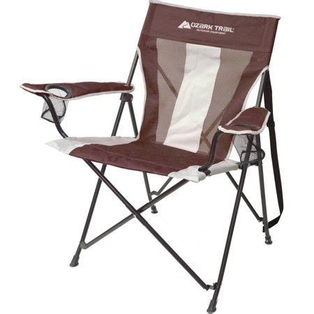 ozark trail oversized mesh chair ozark trail tension c chair brown with 2 mesh cup