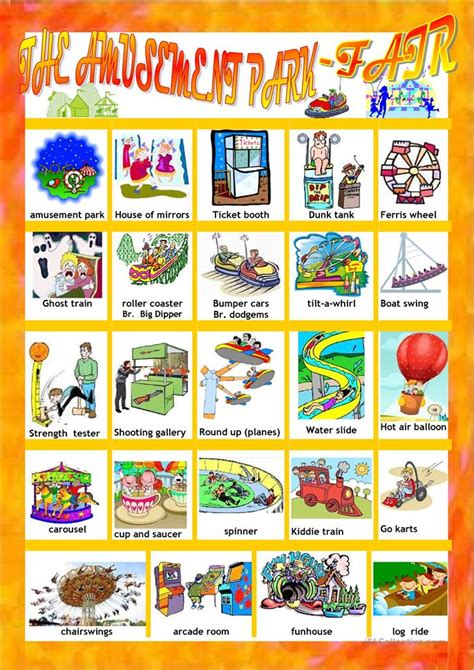 themes for english play themes for english play amusement park fair pictionary