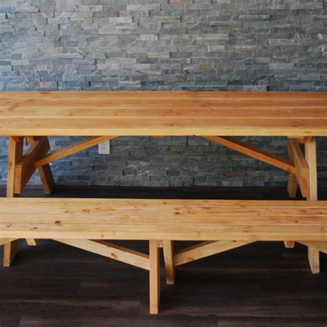 wooden benches for rent natural wood picnic table benches platinum event rentals