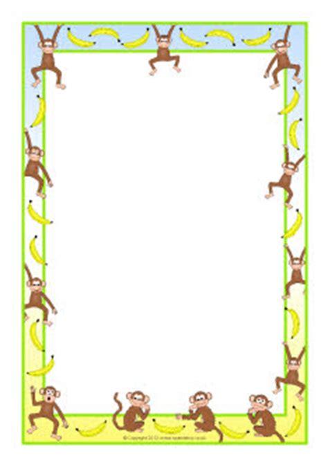 new year monkey border monkeys and bananas a4 page borders sb8473 sparklebox