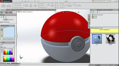 solidworks tutorial top down design solidworks 2014 easy tutorial designing a pokeball voice
