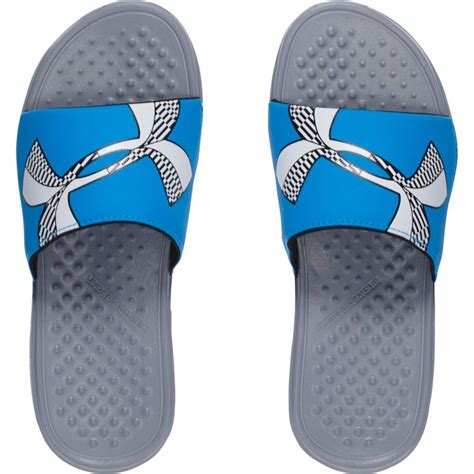 armour boys sandals armour big boys ua strike checkboard slides sandals