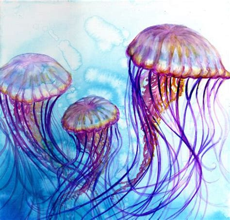 watercolor tattoos jellyfish best 25 watercolor jellyfish ideas on