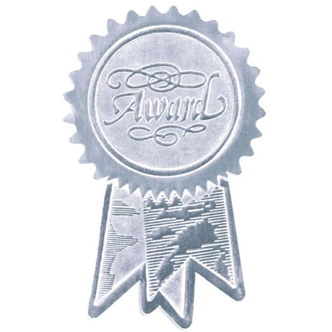 seal ribbon award ribbon silver seal jones school supply