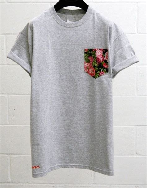 saturns pattern t shirt unisex pocket tee men s pink cerisse floral pattern grey pocket