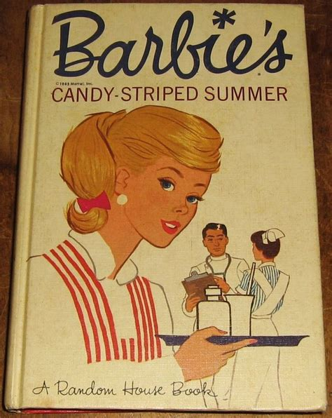random house books vintage barbie s candy striped summer book 1965 hardcover mattel random house