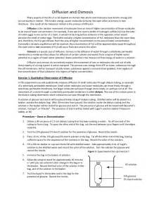 diffusion and osmosis student handout