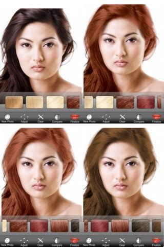 app to try hair color 17 best images about modiface mobile apps on