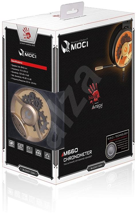 Murah Headset Gaming Bloody Moci M660 Original a4tech bloody m660 gold headphones with mic alzashop