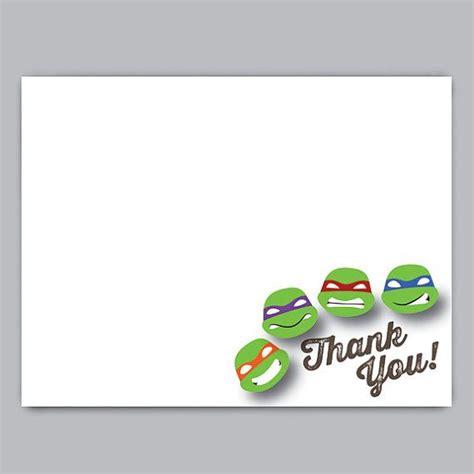 free printable ninja turtle thank you cards teenage mutant ninja turtles printable thank you card