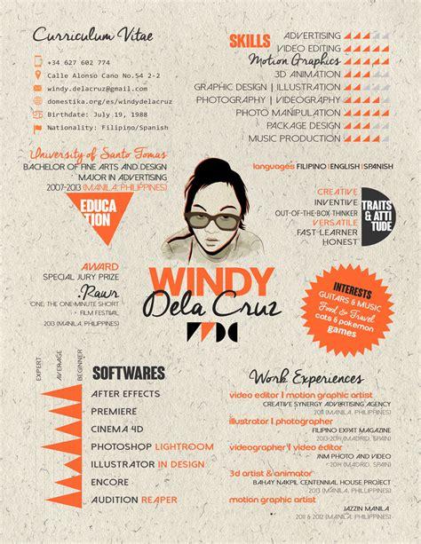 graphic design lecturer cv creative cv domestika