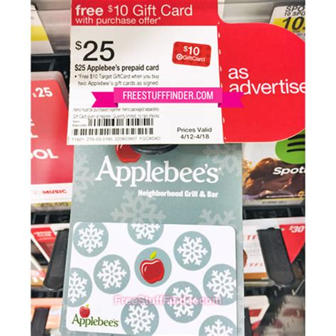 free 10 target gift card with 2 applebee s gift cards at - Free Applebees Gift Card