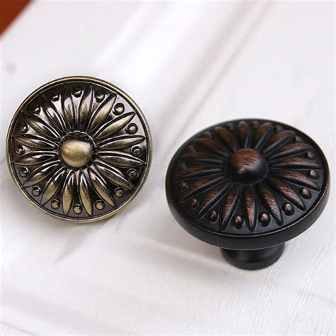 drawer knobs pulls antique brass black copper small by