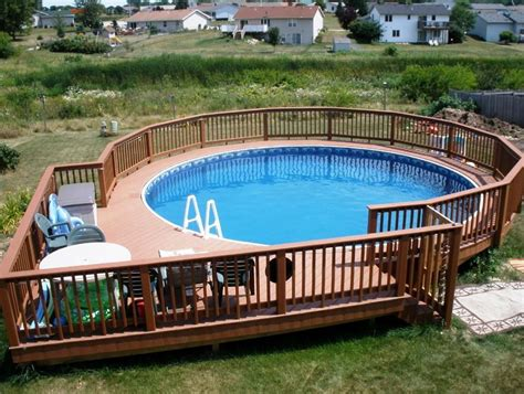 pool decks above ground pool deck designs ideas yard