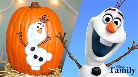 frozen pumpkin painting disney diy disney video