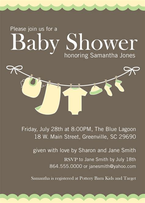 baby shower neutral invitations baby shower invitations yellow green gender neutral