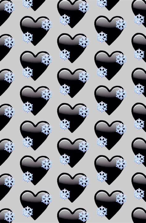 wallpaper emoji black black heart emoji background by love whi