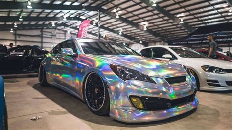 holographic car incredible holographic chrome vinyl wrap by ckwraps youtube