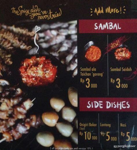 diperbarui menu sate taichan goreng bekasi utara