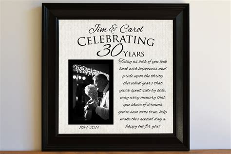 30th Wedding Anniversary Gifts by Wedding Anniversary Gift 30th Wedding Anniversary Gift