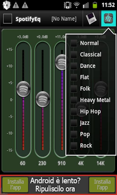 free equalizer app for android equalizer for spotify free app android freeware