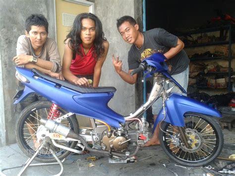 Modifikasi Suzuki Smash Modifikasi Sepeda Motor Suzuki Smash Til Egois