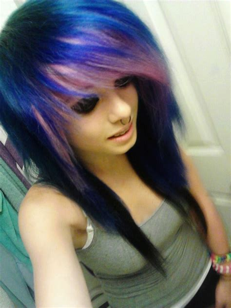 dyed emo hairstyles 186 best images about scene life on pinterest scene hair