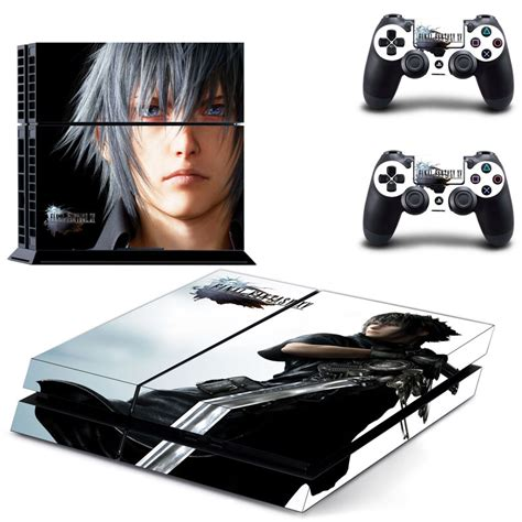 Fantasi Xv Original Sony Ps 4 kingsglaive xv decal skin stickers for sony playstation 4 console 2 pcs stickers