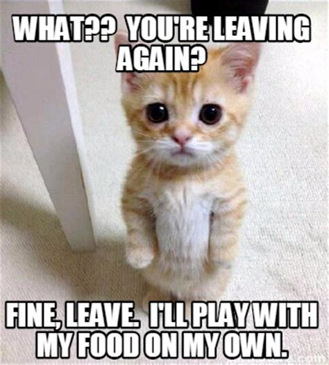 On My Own Memes - meme creator what you re leaving again fine leave i