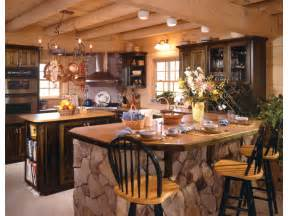 Log Home Kitchen Design Rustic Country Cabins The Interior Decorating Rooms