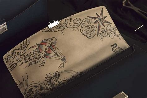 adornment tattoo montblanc secret adornment briefcase clad